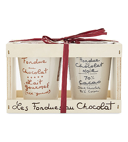 AUX ANEYSETIERS DU ROY Chocolate fondue gift set