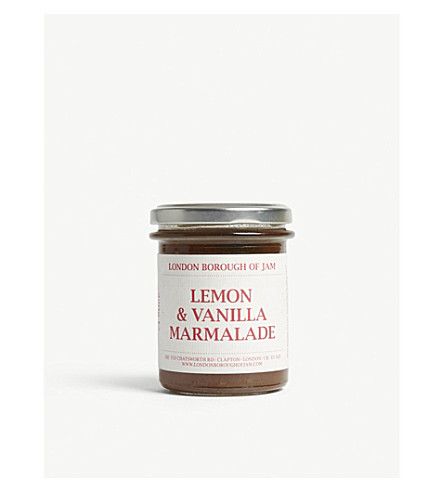 LONDON BOROUGH JAM Lemon and vanilla marmalade 220g