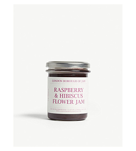 Raspberry and hibiscus flower jam 220g