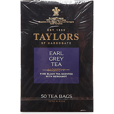 TAYLORS OF HARROGATE Earl Grey tea bags 125g