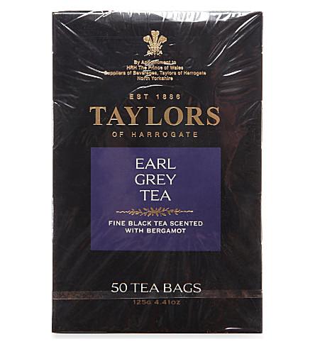 TAYLORS OF HARROGATE Earl Grey tea bags 125g