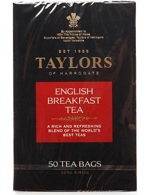 TAYLORS OF HARROGATE English Breakfast tea bags 125g