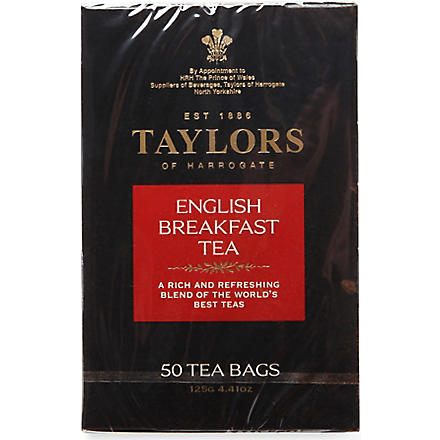 TAYLORS OF HARROGATE English Breakfast tea bags 125g