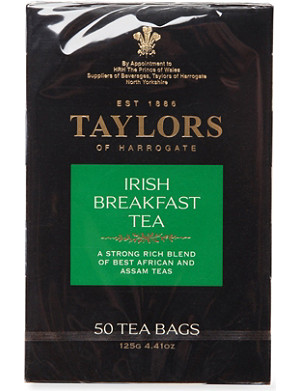 TAYLORS OF HARROGATE Irish Breakfast tea bags 125g