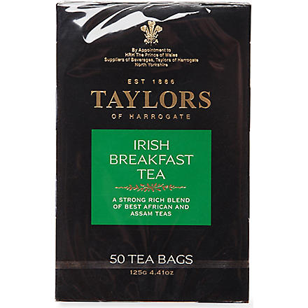 TAYLORS OF HARROGATE Irish Breakfast tea bags 125g