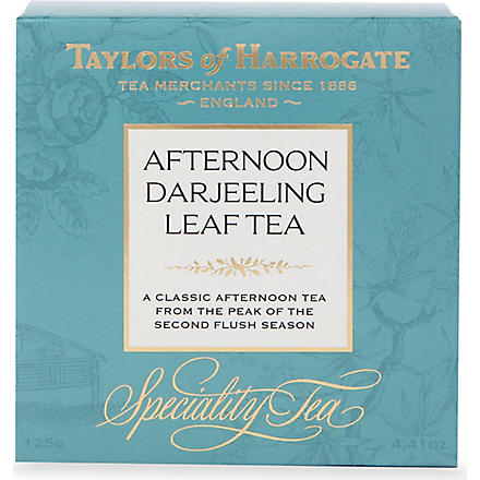 TAYLORS OF HARROGATE Afternoon Darjeeling loose leaf tea 125g