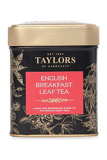 TAYLORS OF HARROGATE English Breakfast loose leaf tea caddy 125g