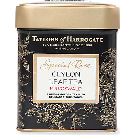 TAYLORS OF HARROGATE Special Rare Ceylon loose leaf tea caddy 125g
