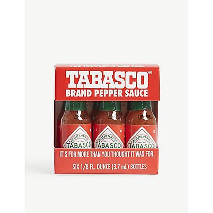 TABASCO Miniature travel pack 6 x 3.7ml