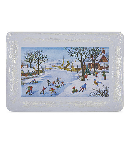 CHURCHILL'S Winter Morning chocolate chunk and hazelnut biscuits presentation tin 300g