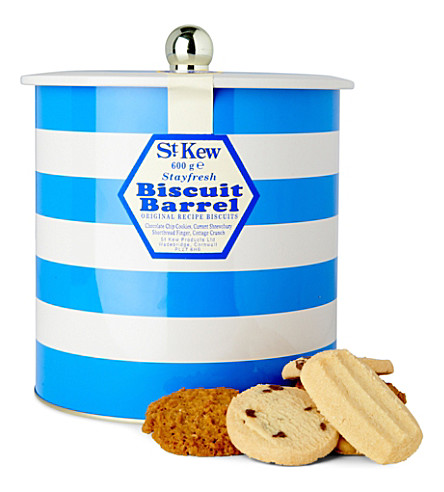 ST KEWS Cornish blue biscuit tin 600g