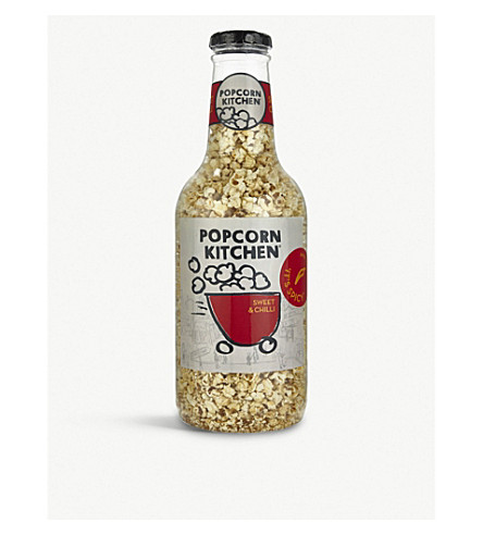 POPCORN KITCHEN Giant money box gourmet Sweet & Chilli popcorn bottle 550g