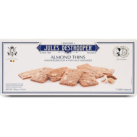 JULES DESTROOPER Almond thins 100g
