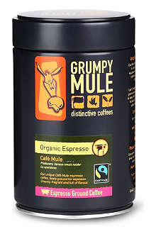 GRUMPY MULE Café Mule Organic Espresso ground coffee 250g