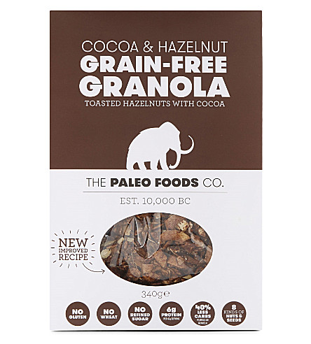 PALEO GRANOLA Cocoa and hazelnut grain-free granola 340g