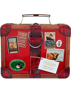 NONE Mini assorted shortbread in suitcase tin 250g