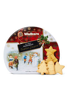 WALKERS Festive Shapes shortbread tin 460g