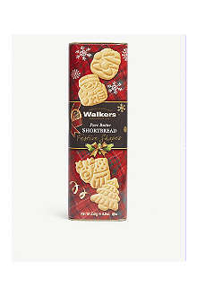 WALKERS Festive Shapes shortbread tube 250g