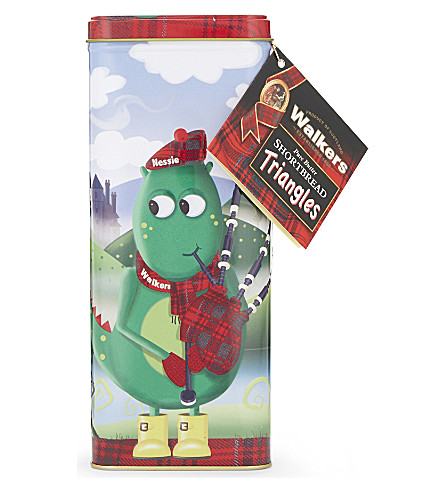 WALKERS Loch Ness Monster pure butter shortbread triangles tin 250g