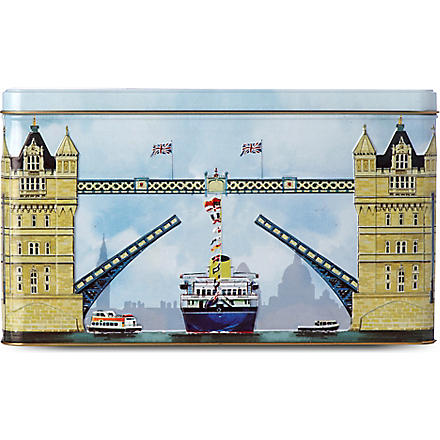 Assorted biscuit selection London Tower Bridge tin 500g