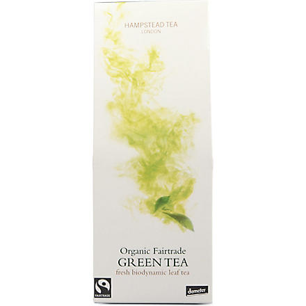 HAMPSTEAD TEA Green loose leaf organic tea pouch 125g