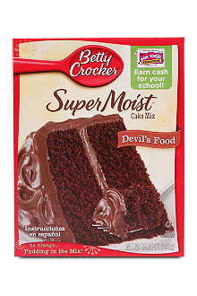 BETTY CROCKER SuperMoist Devil's Food cake mix