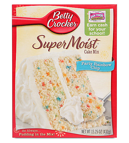 BETTY CROCKER SuperMoist Rainbow Chip cake mix 432g