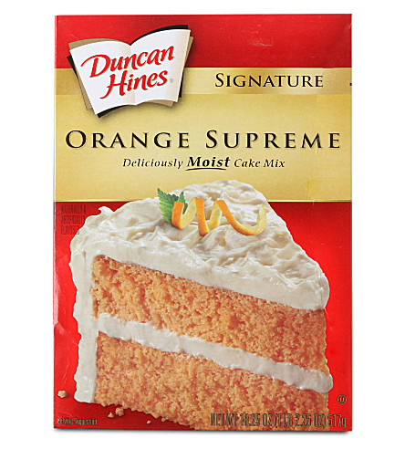 DUNCAN HINES Orange Supreme cake mix 517g