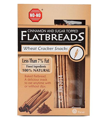 NO NO Cinnamon and Sugar topped flatbreads