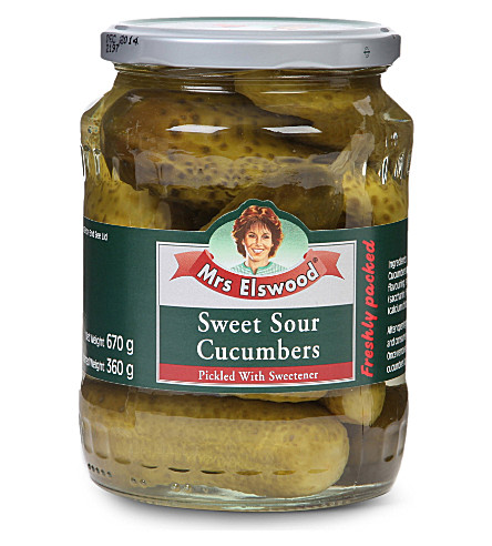 MRS ELSWOOD Sweet Sour cucumbers