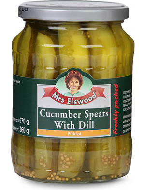 MRS ELSWOOD Cucumber spears with dill 670g