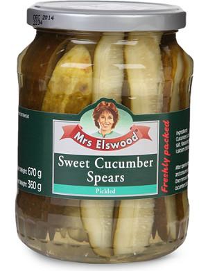 MRS ELSWOOD Sweet cucumber spears