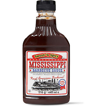 MISSISSIPPI BARBECUE SAUCE Sweet 'n Spicy barbecue sauce 440ml