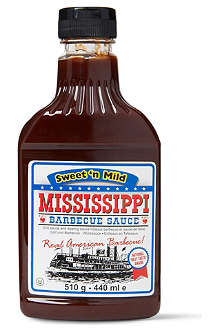 MISSISSIPPI BARBECUE SAUCE Sweet 'n Mild barbecue sauce 440ml