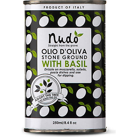NUDO Olive oil with basil 250ml