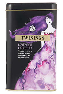 TWININGS Lavender Earl Grey limited edition tea bags tin 40g