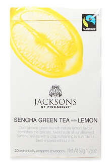 JACKSONS OF PICCADILLY Sencha Green Tea with Lemon teabags