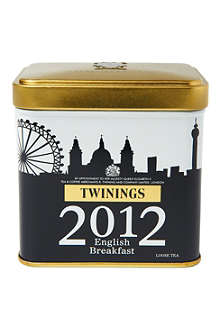 London Skyline English breakfast loose tea caddy 100g