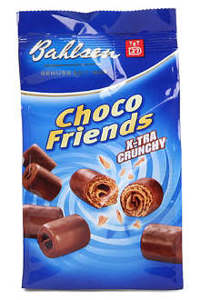 Choco Friends chocolate wafer curls 100g