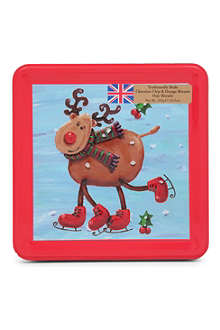 Skating Reindeer biscuit tin 300g