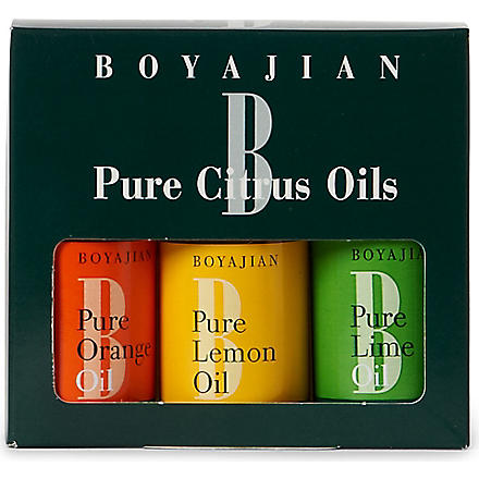 BOYAJIAN Three citrus oils gift pack 90ml