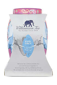 WILLIAMSON TEA Limited edition Earl Grey elephant tea bag caddy 100g