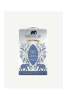 WILLIAMSON TEA Earl Grey tea bags 125g