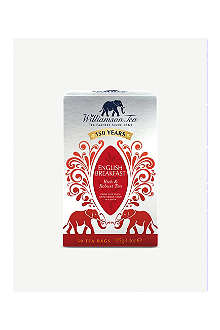 WILLIAMSON TEA English Breakfast tea bags 125g