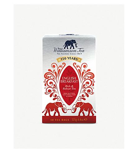 WILLIAMSON TEA English Breakfast tea bags 125g