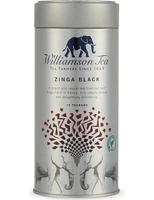 WILLIAMSON TEA Zinga Black tea bags
