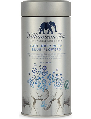WILLIAMSON TEA Earl Grey with Blue Flowers 15 tea bags