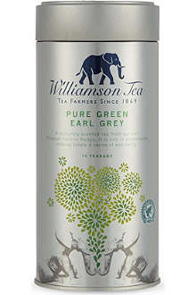 WILLIAMSON TEA Pure Green Earl Grey tea bags