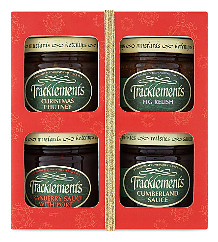 TRACKLEMENTS Selection of four chutneys and jam 420g