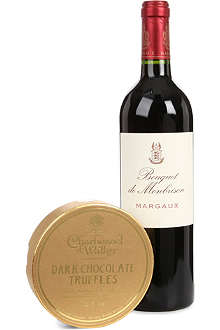 SELFRIDGES SELECTION Father's Day Bordeaux and Chocolates gift set